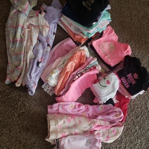 0-3 month baby girl clothing! Over 50 outfits!